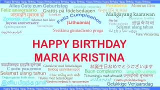 MariaKristina   Languages Idiomas - Happy Birthday