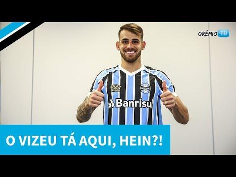 O VIZEU TÁ AQUI HEIN?! - Imagens exclusivas da chegada do novo atacante Tricolor l GrêmioTV