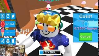 Eddie joue ROBLOX - Simulateur de crème glacée (fr) LA SCIENCE GOOGIVERSE - JEUX