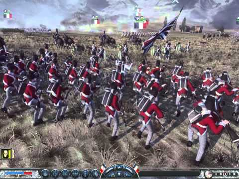 Napoleon Total War France vs Great Britian - 1 vs 2 Spanish Lakeside,