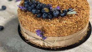 Печем торт Рыжик/смогут все/тоньчайшие медовые коржи