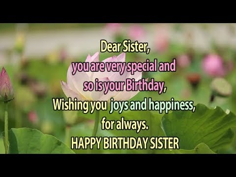 Happy Birthday to My Sister || Birthday greetings for sister