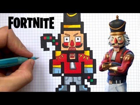 Full Download Como Dibujar Skull Trooper Pixel Art Skin Fortnite