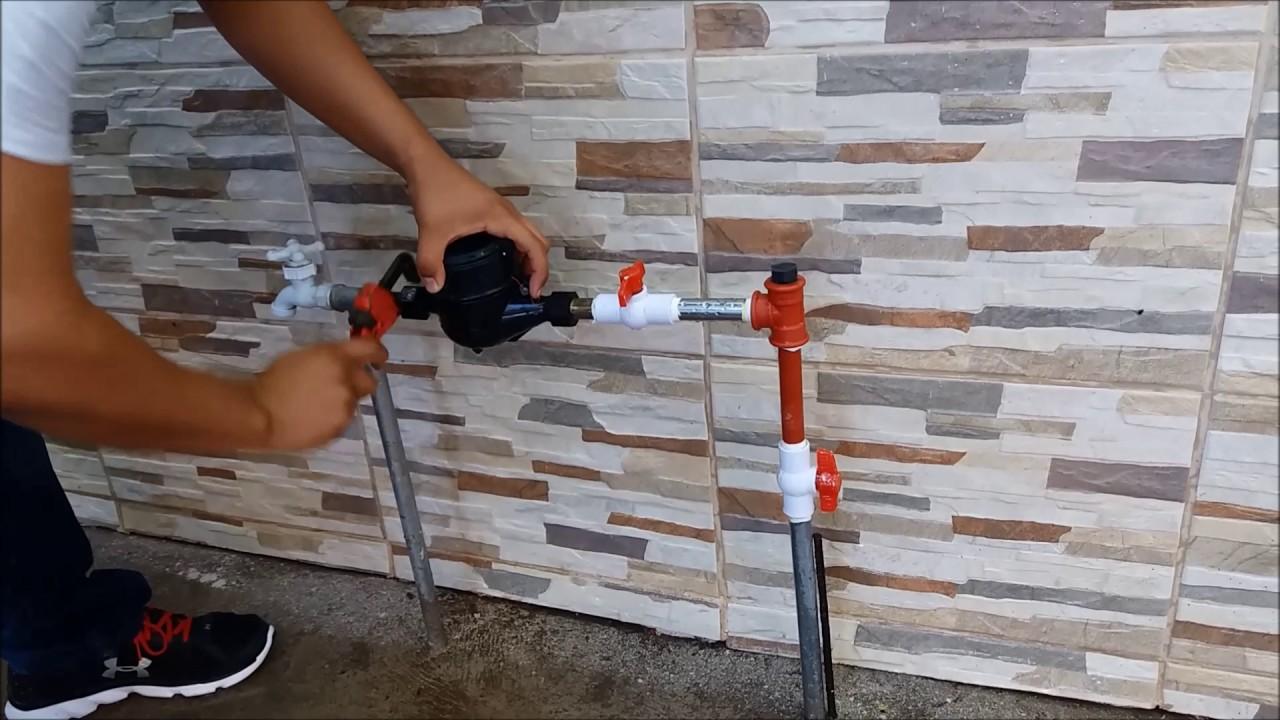Corte de agua en cuadro de medidor con tapon de corte - Medidor de agua ...