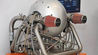 видео аксиальный двигатель внутреннего сгорания