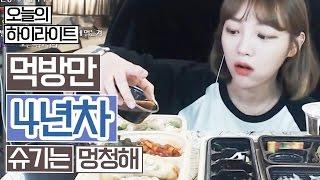 [오늘의 하이라이트] 먹방만 4년차, 슈기는 멍청해 !!! 슈기♬ Mukbang