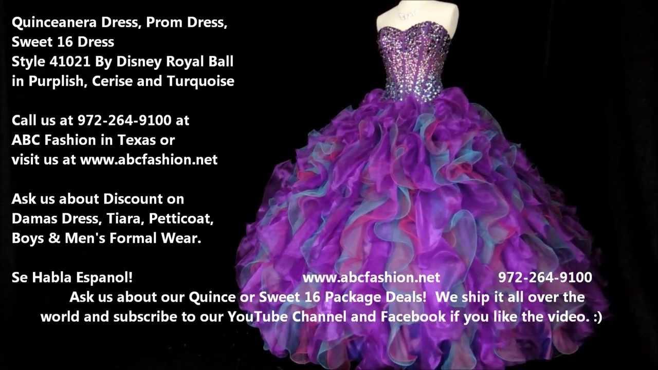 41021 Purplish Disney S Royal Ball Quinceanera Dress