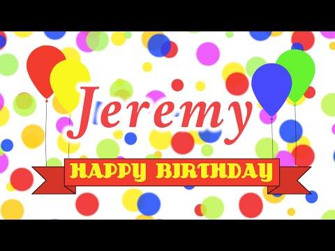 Happy Birthday Jeremy Song
