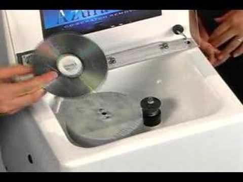 Azuradisc Model 1600 Disc Repair Machine Part 2 - YouTube