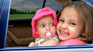 We are in the Car | Wheels On The Bus Song Nursery Rhymes & Kids Songs by Maya and Mary