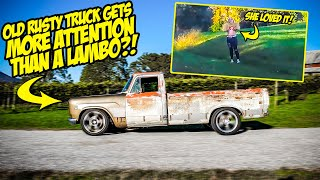 Our Mid-Engined Muscle Truck Gets More Attention Than A LAMBORGHINI! (SHE FLASHED US?!)