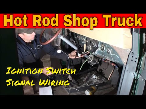 Model A Hot Rod Shop Truck:  Ignition And Dash Wiring