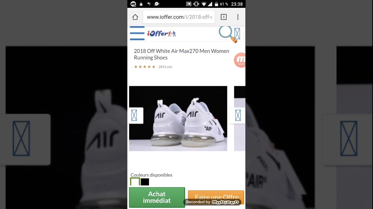 ed5166e3b66 Ioffer Nike Air Max 270 Off White  129 - YouTube