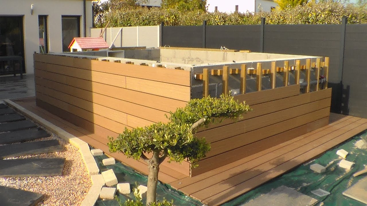 comment construire sa piscine hors sol, how to build your aboveground pool  (9eme partie)