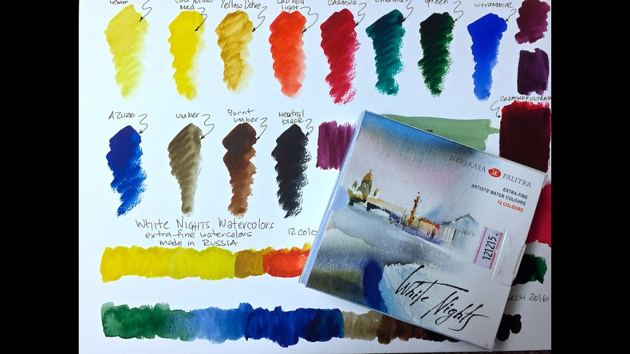 White Nights Watercolors Youtube