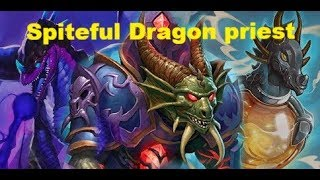 Hearthstone.Dragon priest ft Spiteful summoner.  Kobolds And Catacombs.