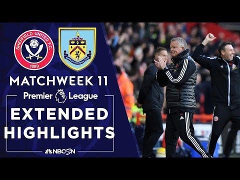 Sheffield United V. Burnley   PREMIER LEAGUE HIGHLIGHTS   11/02/19   NBC Sports