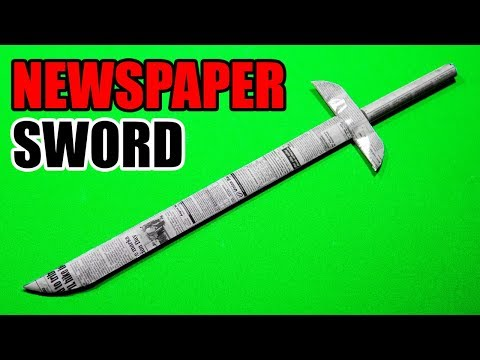 How To Make a Paper Sword | Paper Sword Making Using Newspaper (Very Easy)