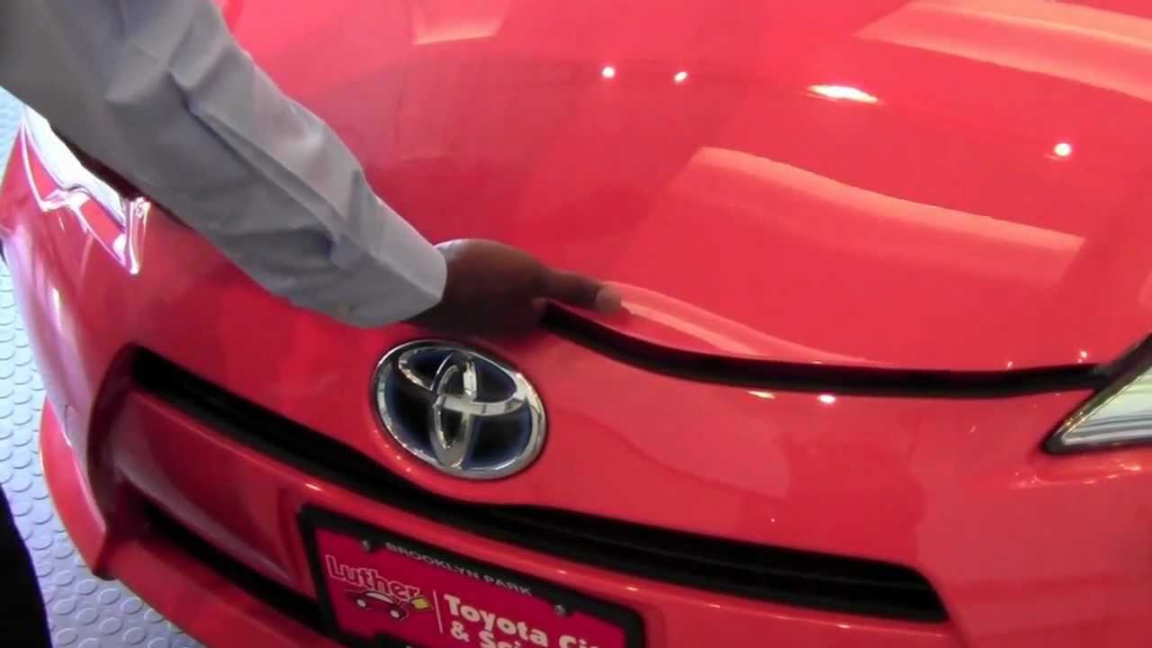 2012 Toyota Prius C Hood Release How To By Toyota