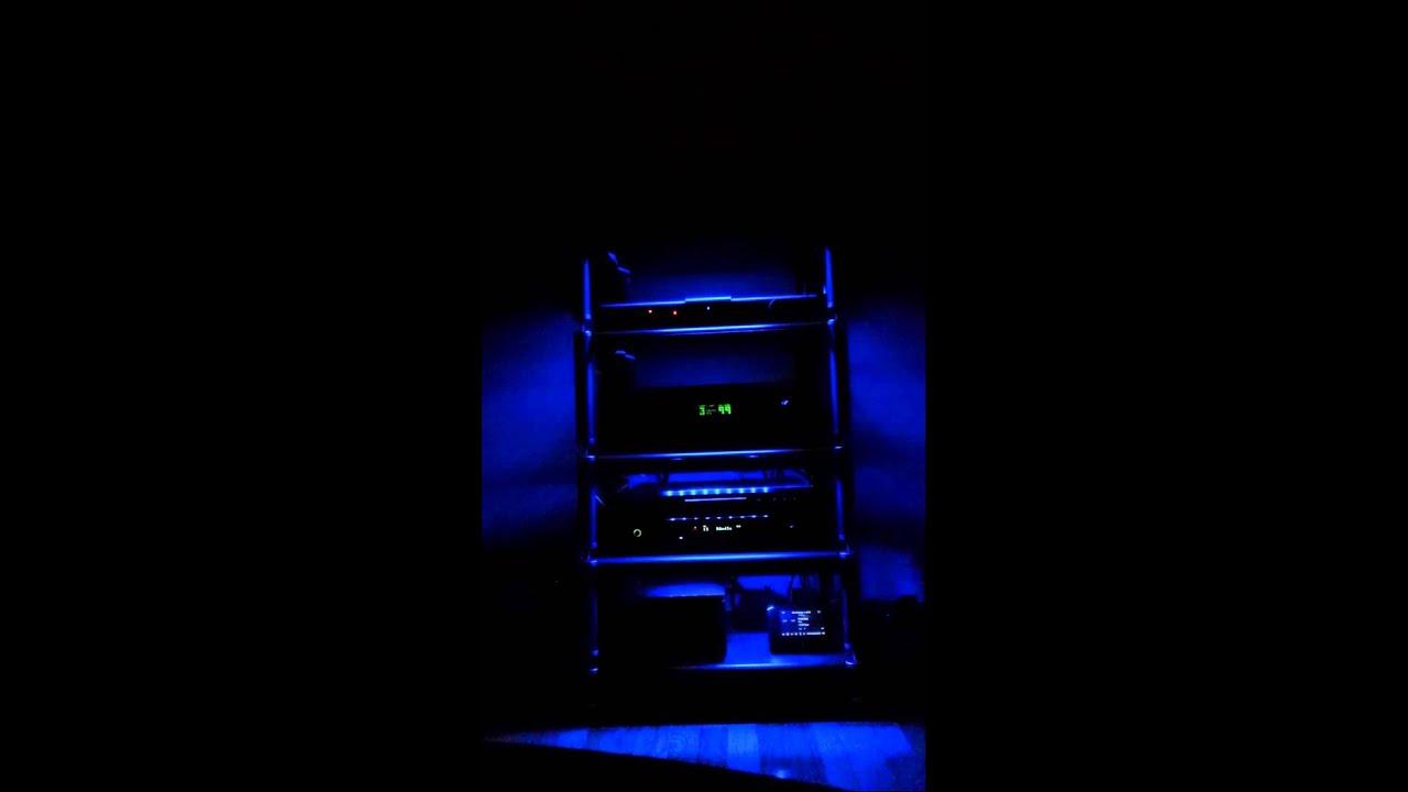 audio rack led lights youtube