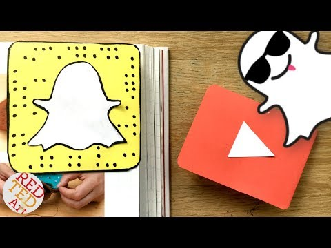 Easy Snapchat Bookmark DIY - Paper Corner Bookmark DIYs - Snapchat Paper Crafts