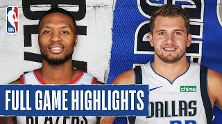TRAIL BLAZERS at MAVERICKS | FULL GAME HIGHLIGHTS | August 11, 2020