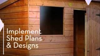 Backyard Shed Plans & Designs