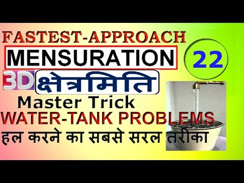 Mensuration(3D) part-22|Water-Tank problem|Master trick|Advance maths for SSC CGL|CHSL[IN HINDI]