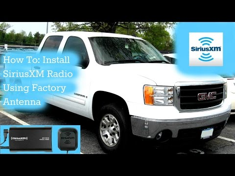 How to Install a Satellite Radio Using Existing Factory XM Antenna for Chevy Silverado 2007-2014!