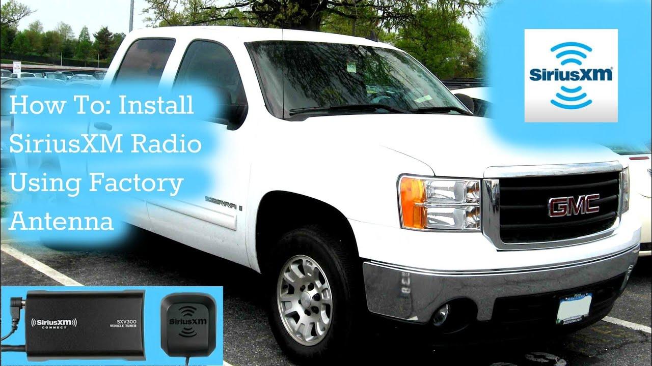 How To Install A Satellite Radio Using Existing Factory Xm Antenna 2006 Chevy Colorado Audio Wiring For Silverado 2007 2014