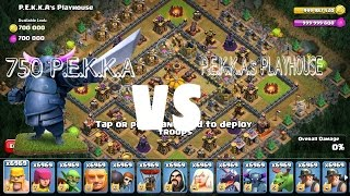 750 P.E.K.K.A Vs 500 P.E.K.K.A's Playhouse in Clash of clans Private Server