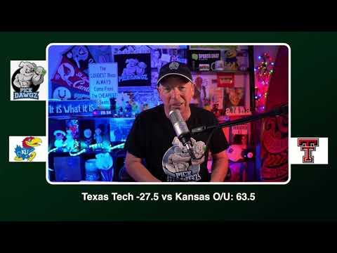 Texas Tech vs Kansas 12/5/20 Free College Football Picks and Predictions CFB Tips