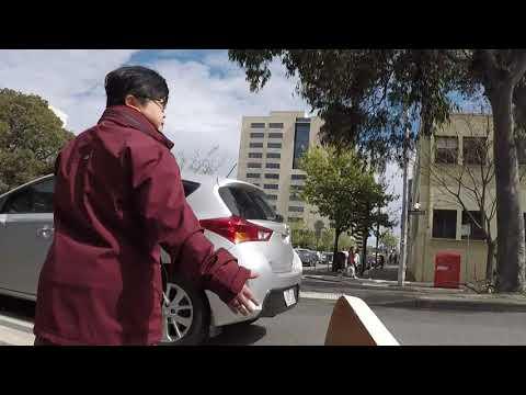 Walking to Law School of University of Melbourne