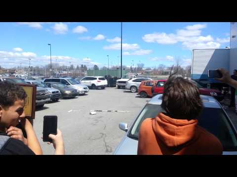 Blowing up car air bags