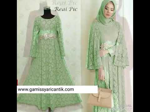 Model Baju Gamis Pesta Bahan Brokat 081213381472 Youtube