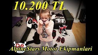 10.200 TL Lik Motor Ekipmanlari Full AlpineStar -Maskeli Adam