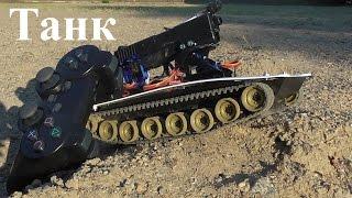 Тест-драйв самодельного танка на радиоуправлении(Это краткий обзор самодельного танка на радиоуправлении. В следующем видео я покажу как его сделать., 2015-08-09T18:03:43.000Z)