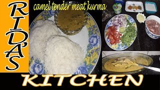camel meat kurma with idiyappam| hasi  (Tender camel meat)kurma | camel  meat stew | camel curry