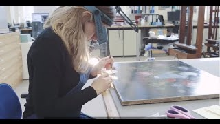 Conservation: Flowers in a Glass Vase painting