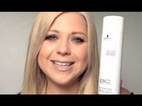 Toning Bleached Hair Using Bonacure Color Freeze Silver Shampoo (Review)