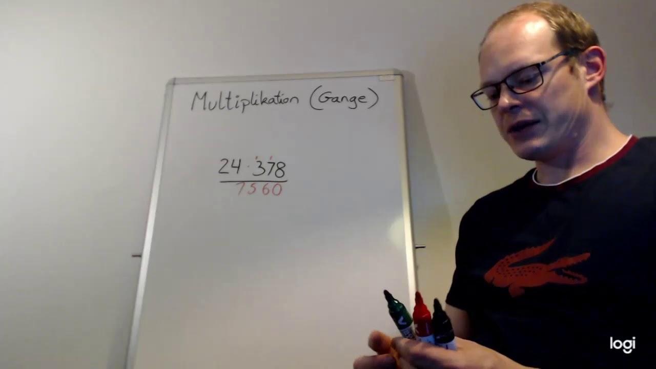 Multiplikation (gange) 2 cifret gange 3-cifret tal