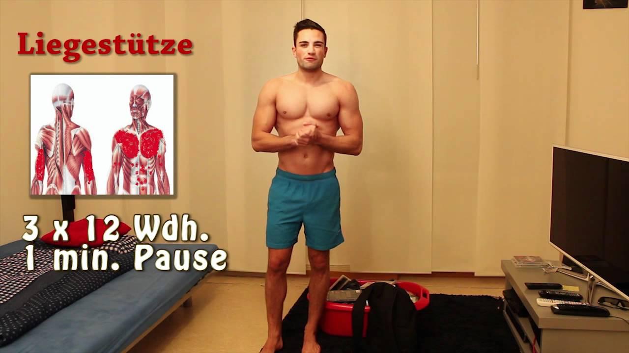 Fitness für zu Hause Trainingsplan Fortgeschrittene | Goeerki - YouTube