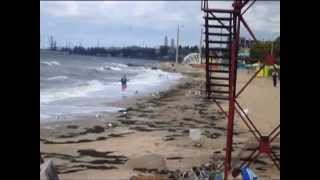 Шторм на море(Шторм на пляже в конце купального сезона. Канал