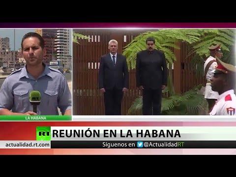 Nicolás Maduro se reúne con el nuevo líder cubano Miguel Díaz-Canel