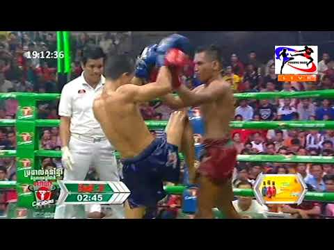 Kun Khmer, Ouch Thearith Vs Khongfar (Thailand), Bayon boxing, 24 June 2018 | Fights Zone