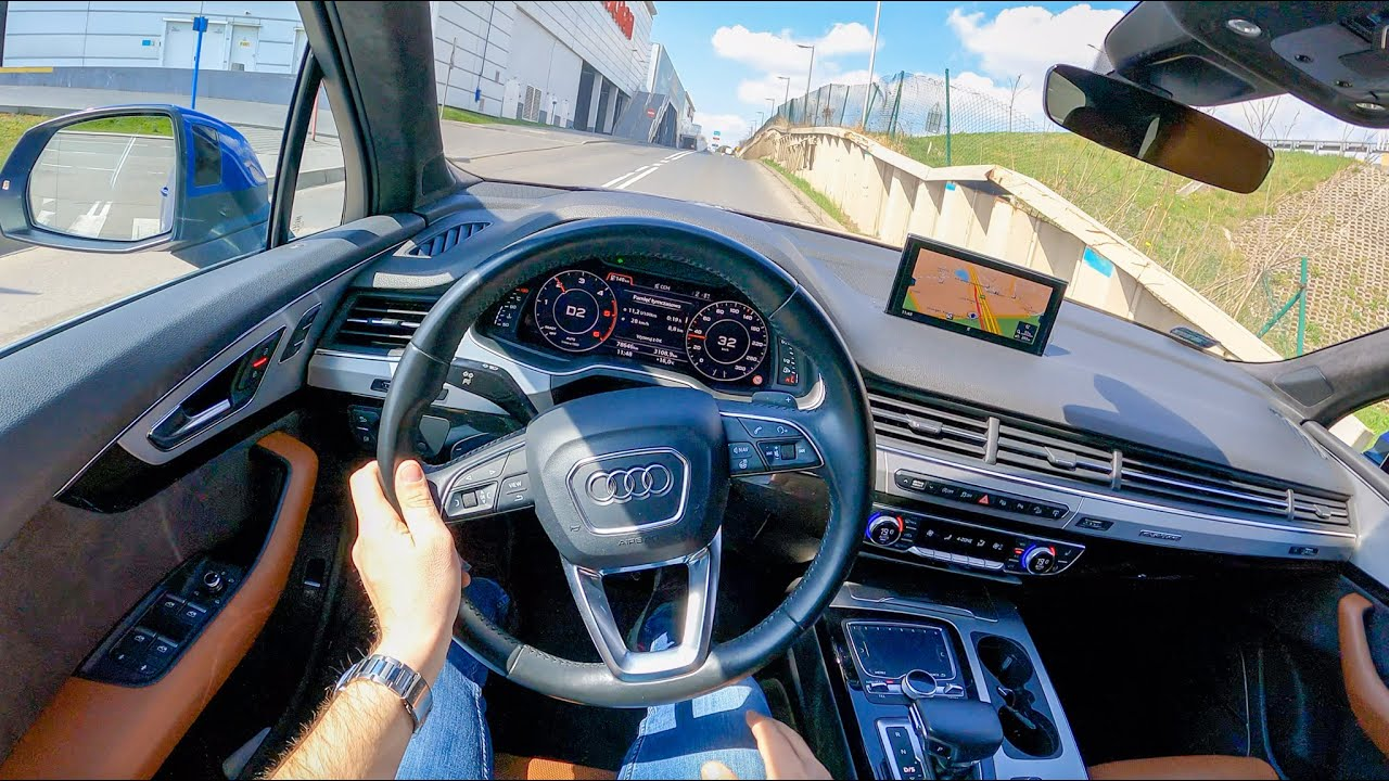 2017 Audi Q7 [3.0 TDi 218HP] | POV Test Drive #851 Joe Black