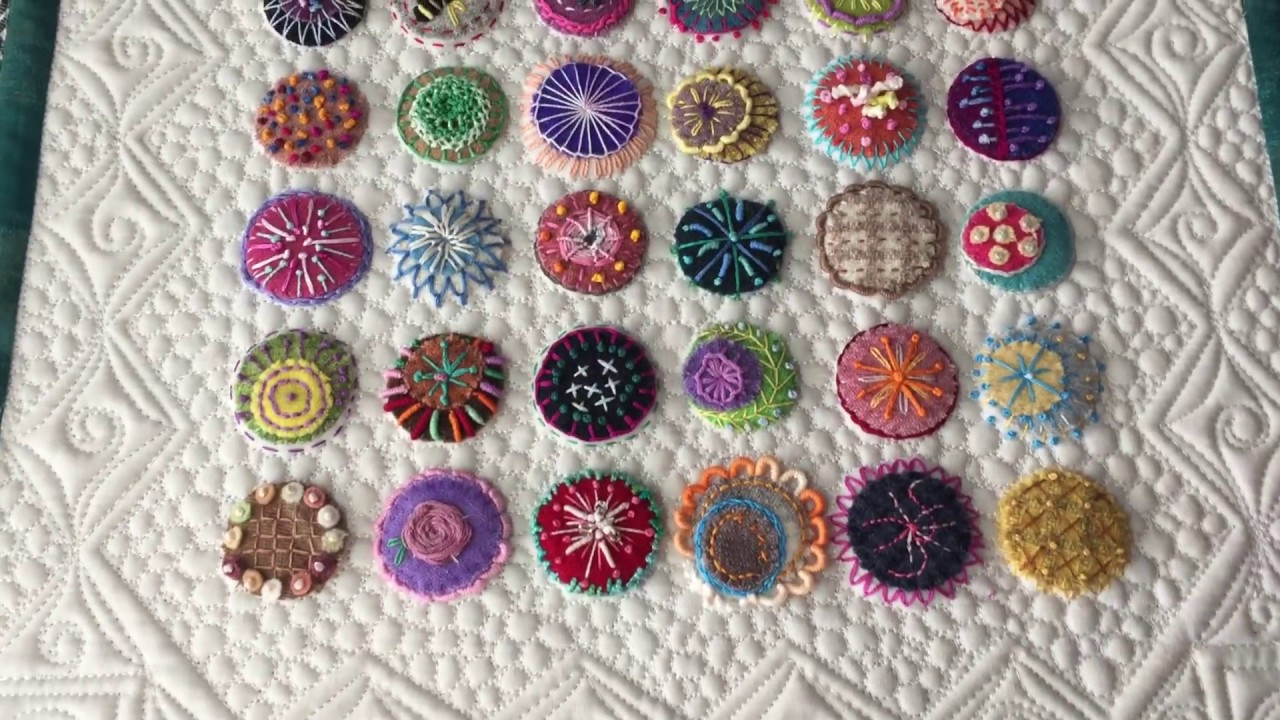 Wool Penny Confetti Embroidery Projects By Charisma Youtube