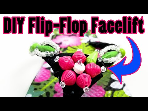 DIY Flip-Flop Facelift with Paper Beads