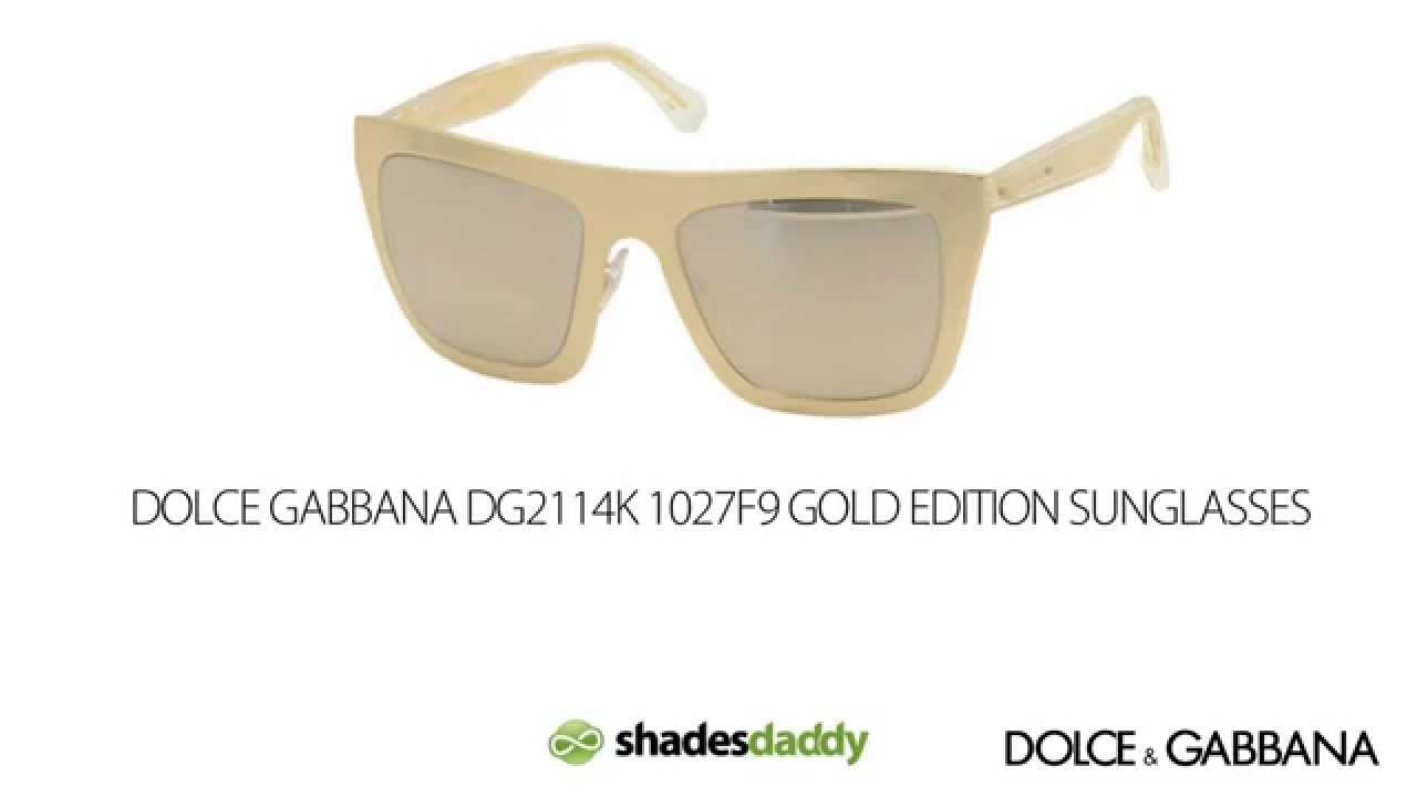 6961a4a9709d Dolce & Gabbana DG2114K Gold Limited Edition Sunglasses - YouTube