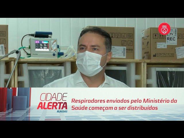 Respiradores enviados pelo Ministério da Saúde começam a ser distribuídos